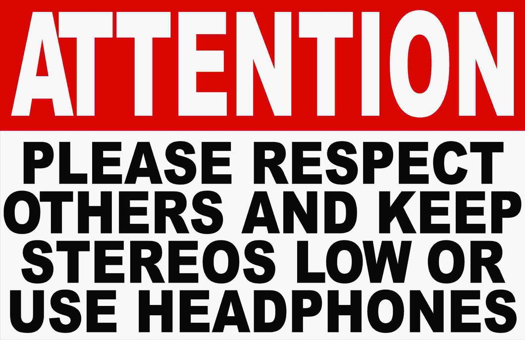 Keep Music Low No Loud Music Sign