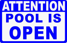 Pool Open Closed Sign