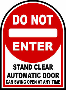 Automatic Door Safety Decal by Sala Graphics