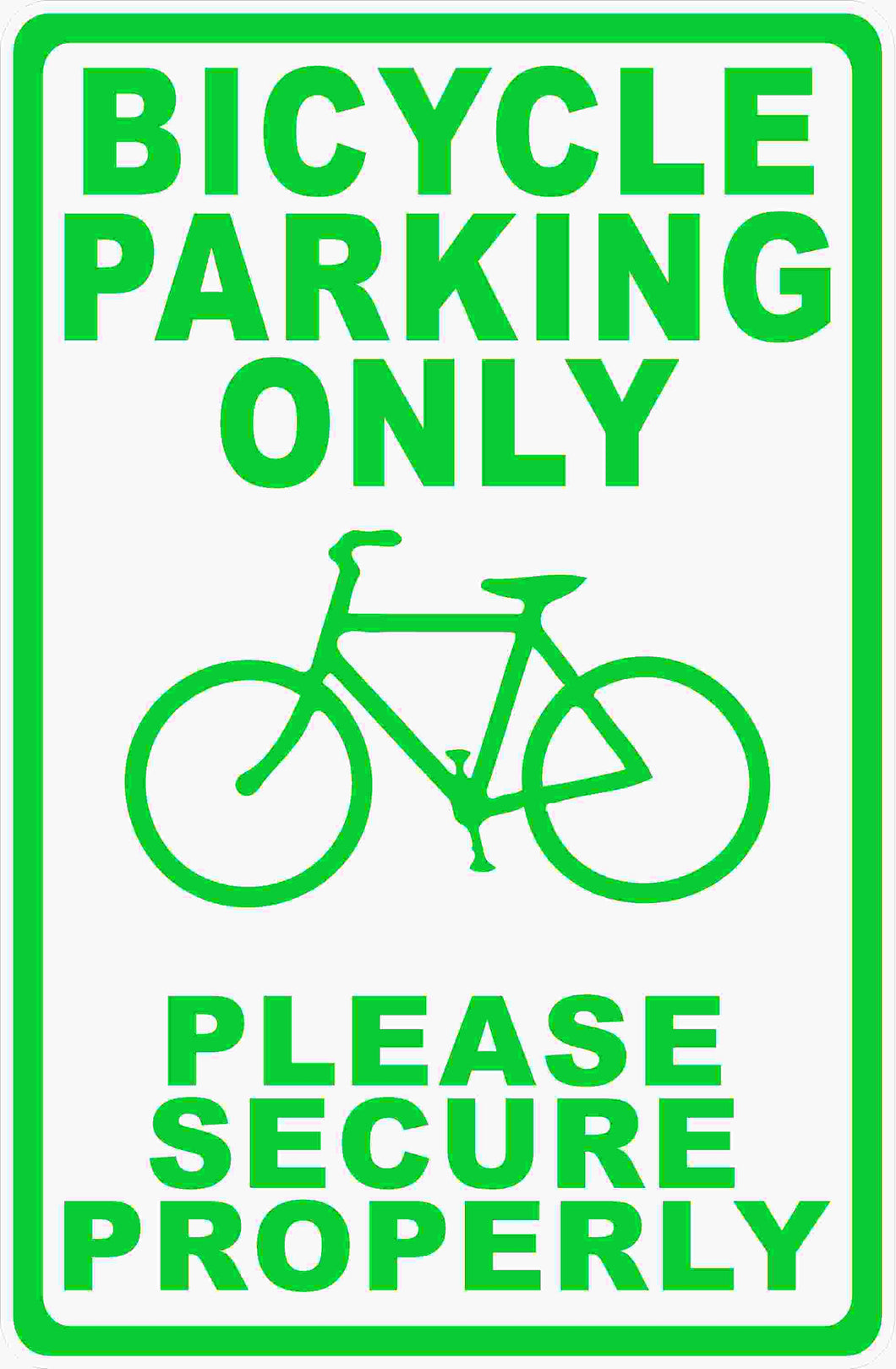 Bike Parking Only Sign by Sala Graphics