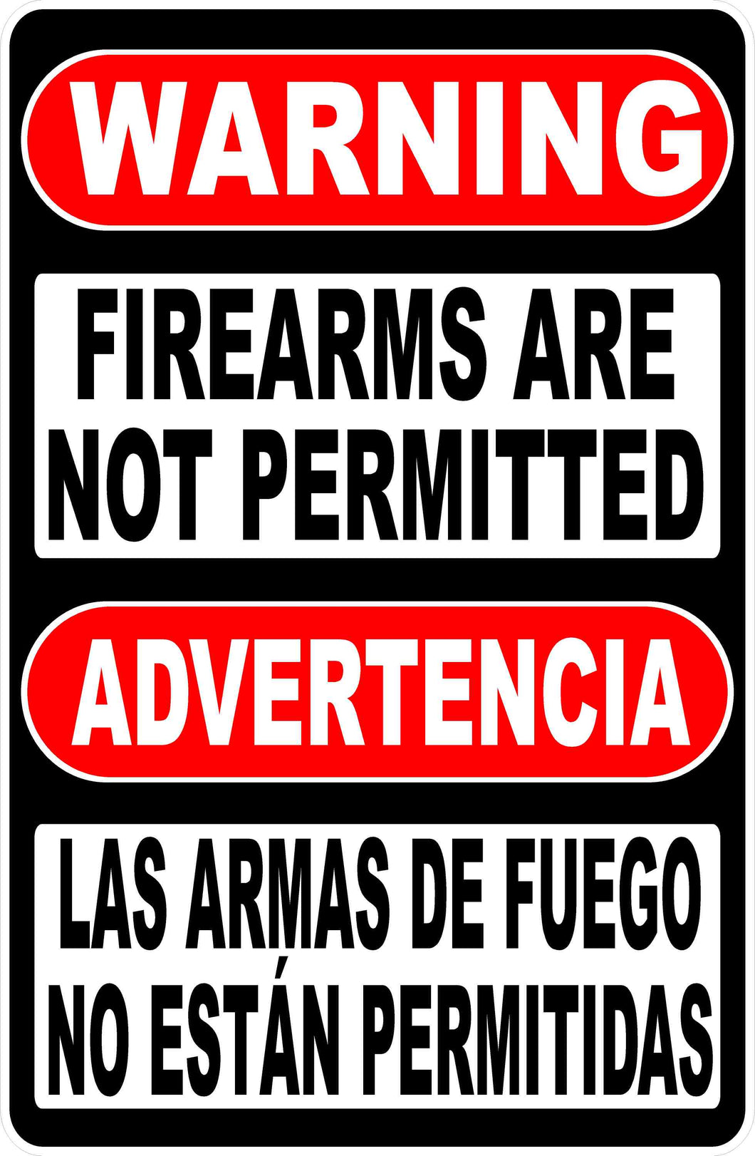 Bilingual Gun Safety Sign