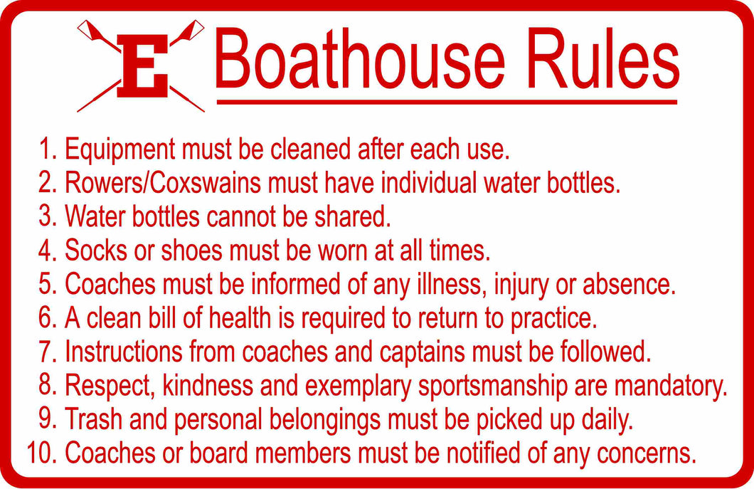 Custom Boat House Rules Sign