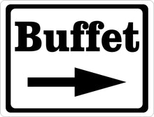 Buffet Sign w/ Directional Arrow - Signs & Decals by SalaGraphics