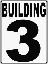 Building Numbering Sign