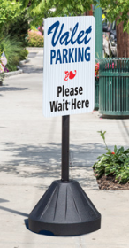 Portable Rolling Tip and Roll Sign Stand Post