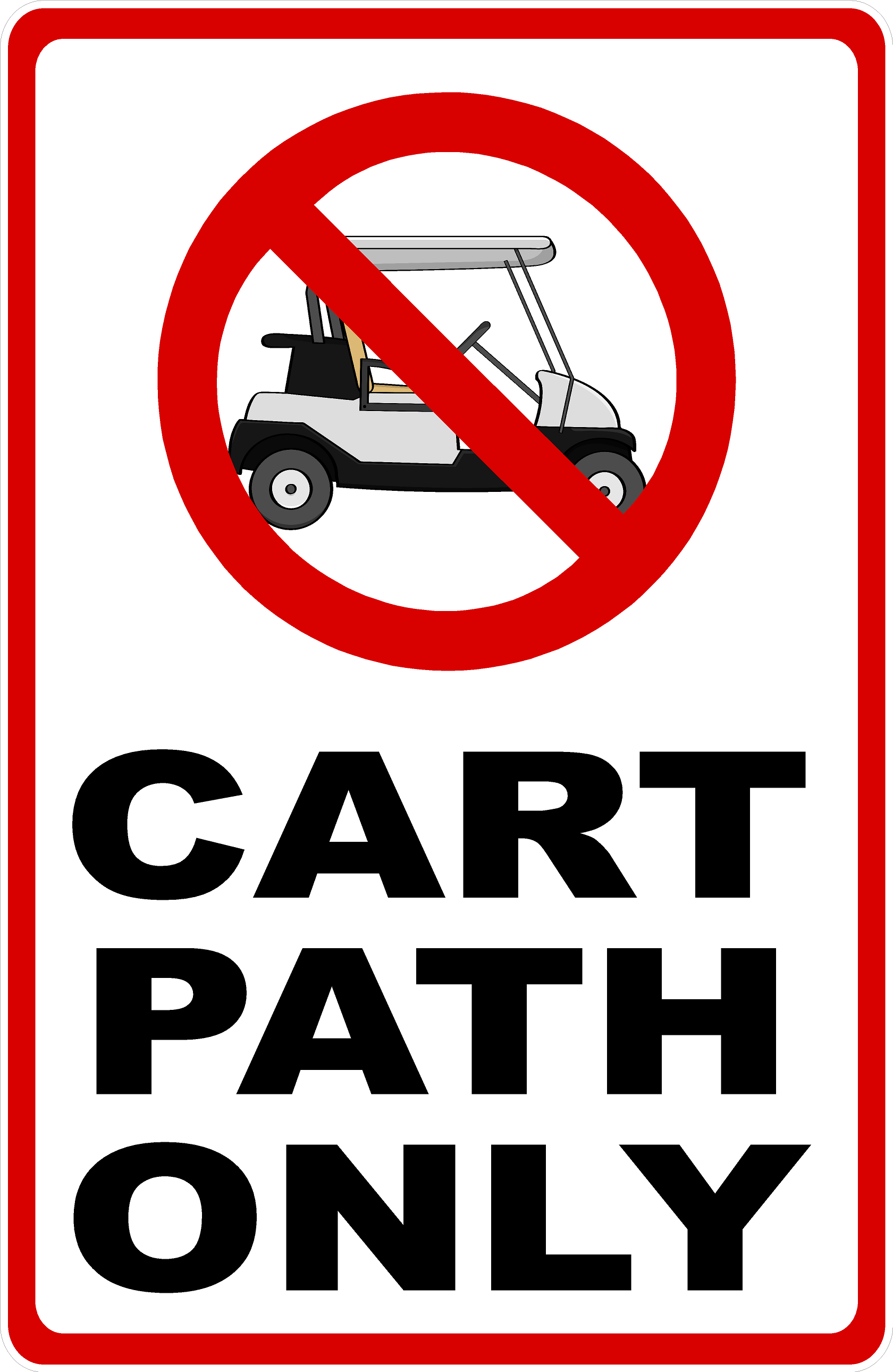 Image result for cart path only golf
