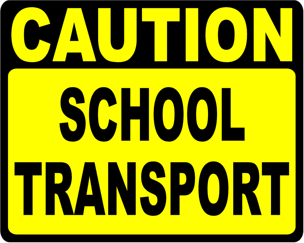 Caution School Transport Decal Multi-Pack