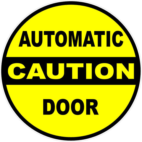 Caution Automatic Door Decal (2-Decals)