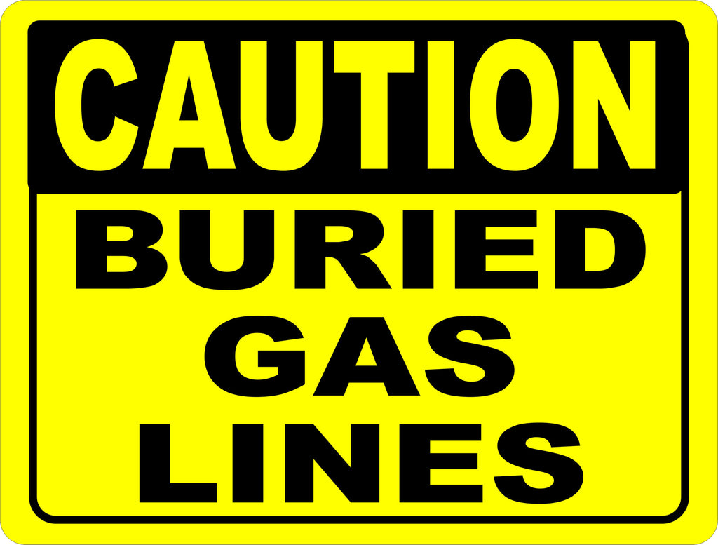 Buried Gas Sign