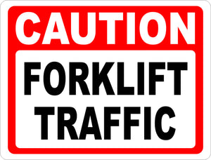 Caution Forklift Traffic Sign - Signs & Decals by SalaGraphics