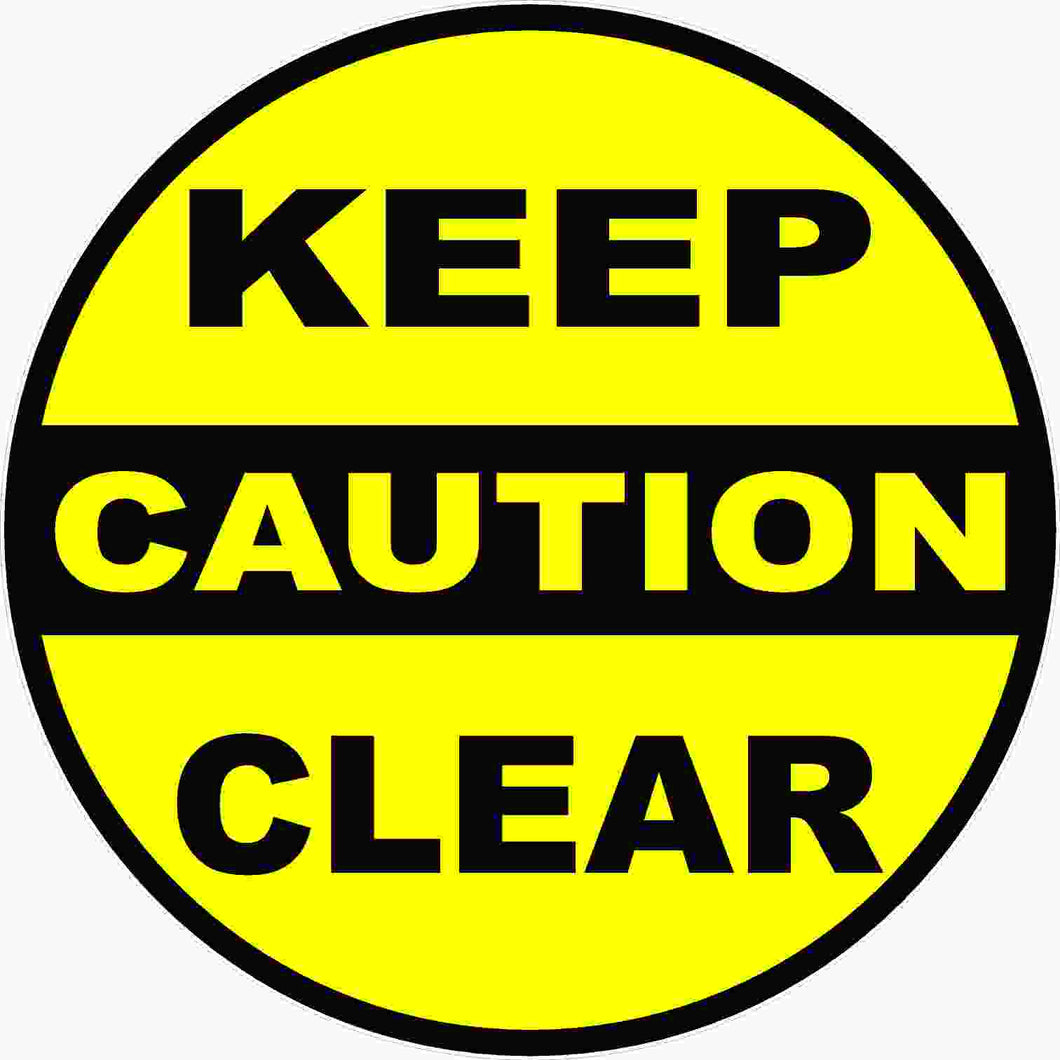 Caution Keep Clear Decal Multi-Pack