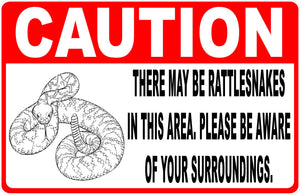 Caution Rattlesnake Sign
