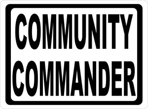 Community Commander Sign by salagraphics