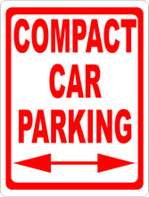 Compact Car Parking Sign w/ Directional Arrow - Signs & Decals by SalaGraphics