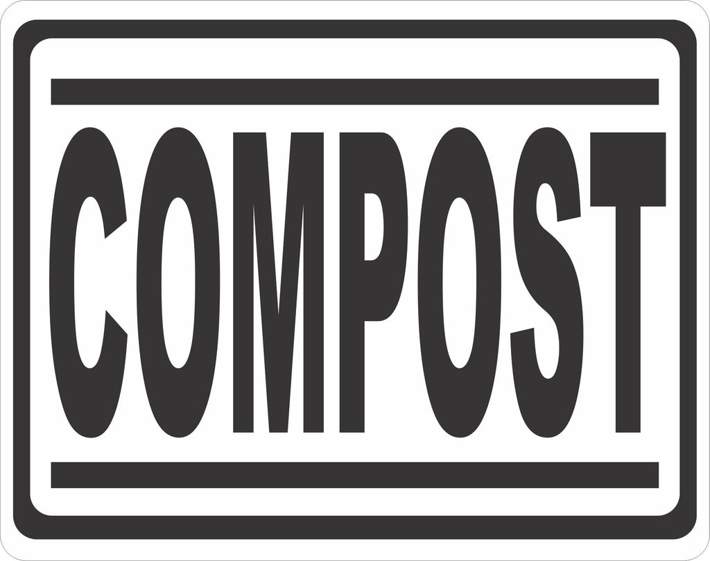 Compost Sign - Signs & Decals by SalaGraphics