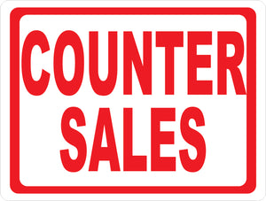 Counter Sales Sign