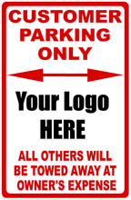 Custom Designed Parking Sign with Your Wording