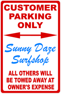 Custom Designed Business Parking Sign