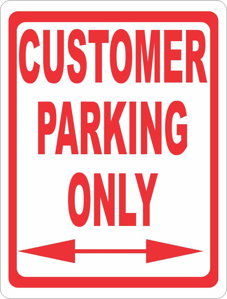 Customer Parking Only Sign - Signs & Decals by SalaGraphics