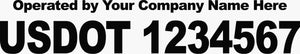 US DOT Vehicle Numbers Decal