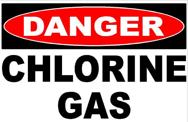 Danger Chlorine Gas Sign