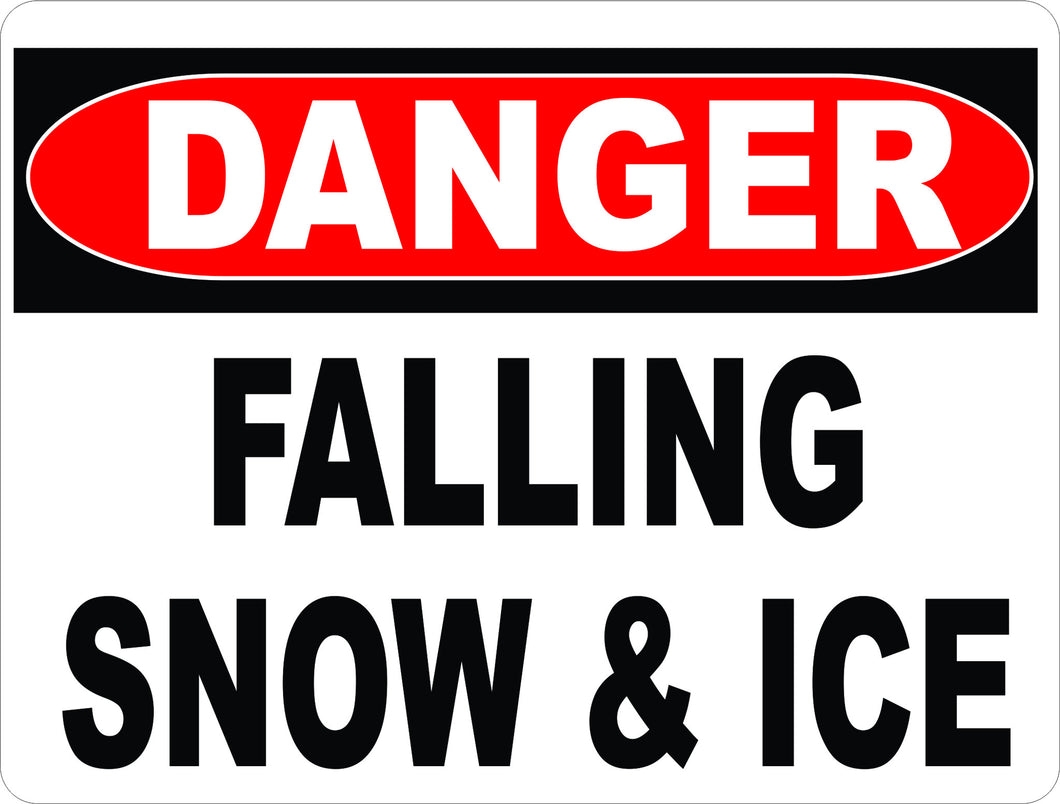 Danger Falling Snow & Ice Sign - Signs & Decals by SalaGraphics