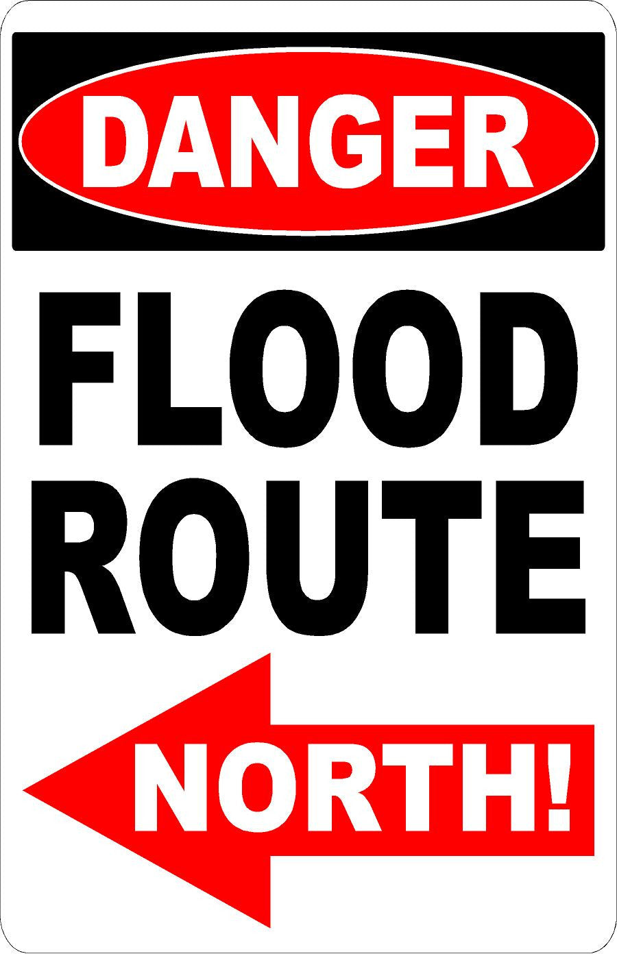 Flood Route Sign