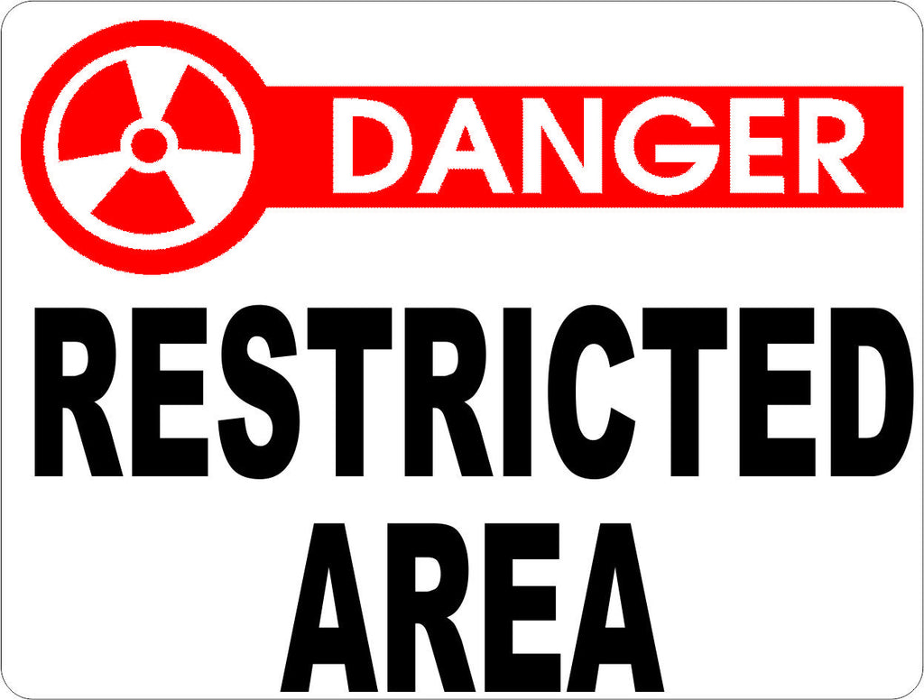 Danger Restricted Area Sign - Signs & Decals by SalaGraphics