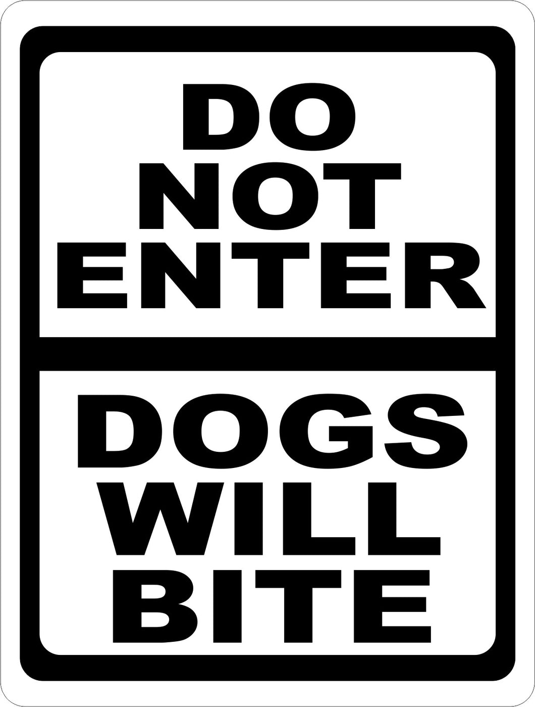 Do Not Enter Dogs Will Bite Sign - Signs & Decals by SalaGraphics