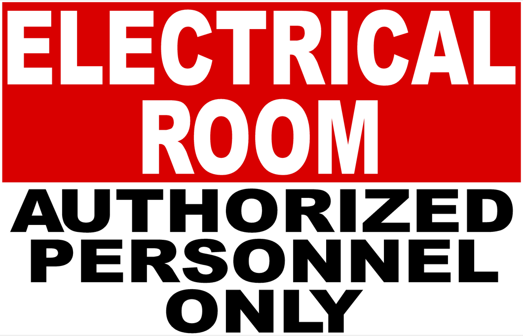 Electrical Room Sign by Sala Graphics