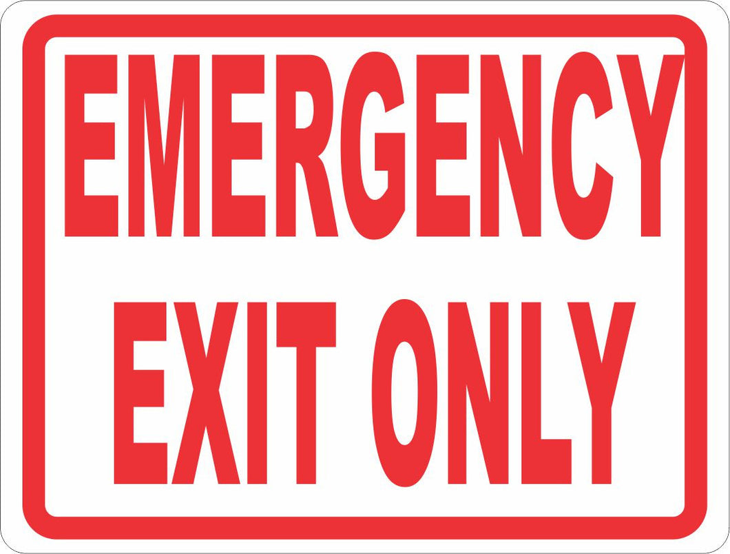 Emergency Exit Only Sign - Signs & Decals by SalaGraphics