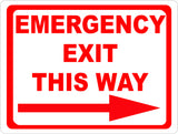 Emergency Exit This Way w/ Right or Left Arrow Sign - Signs & Decals by SalaGraphics