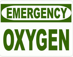 Emergency Oxygen Sign - Signs & Decals by SalaGraphics