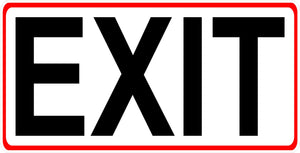 Exit Sign Alternate Size