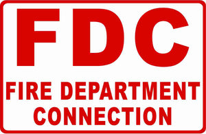 FDC Fire Department Connection Sign