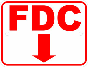 Fire Department FDC SIgn