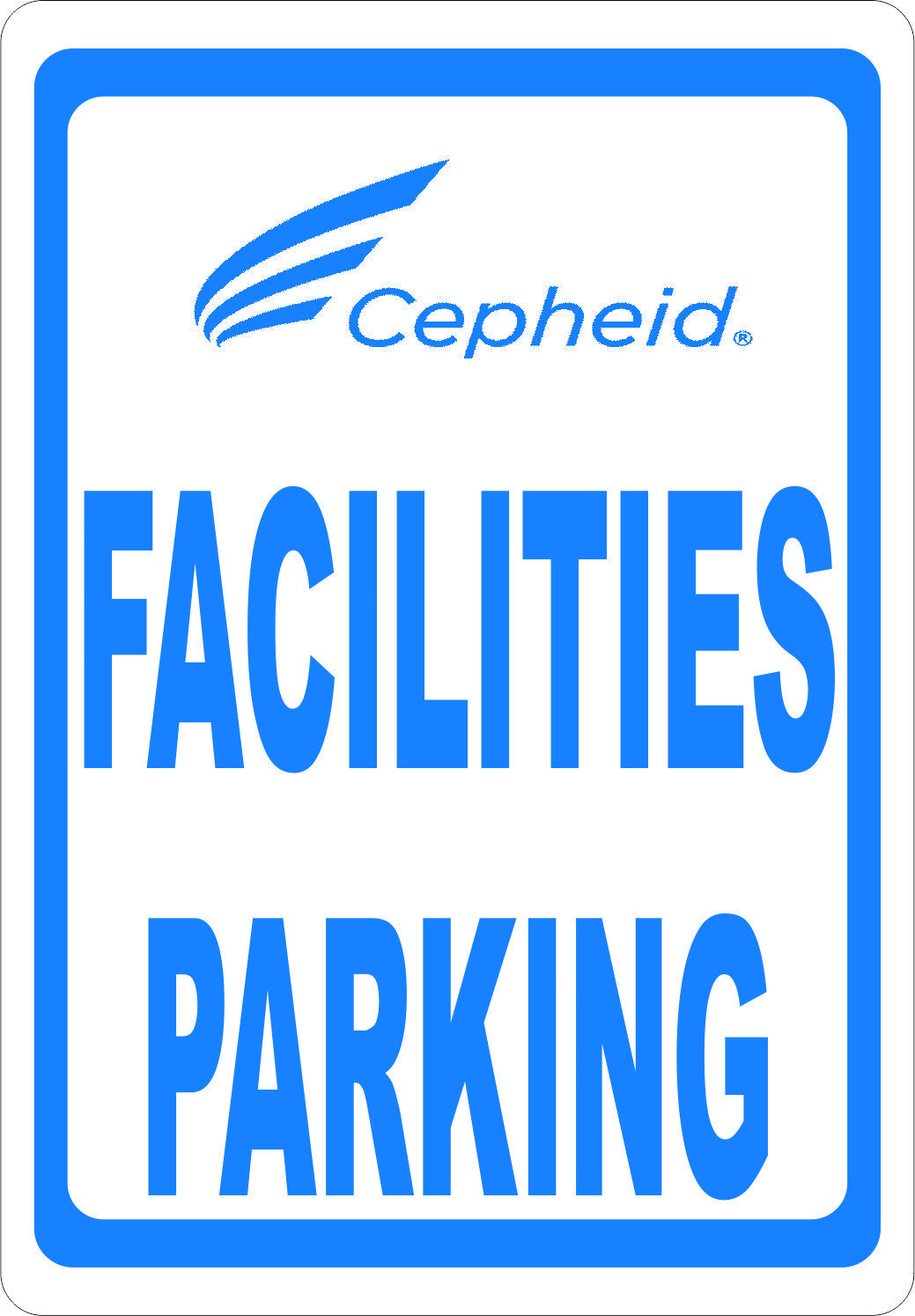 Facilities Parking Sign - Signs & Decals by SalaGraphics