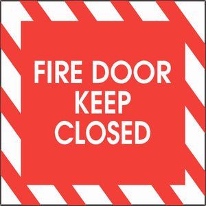 Fire Door Keep Closed Decal - Signs & Decals by SalaGraphics