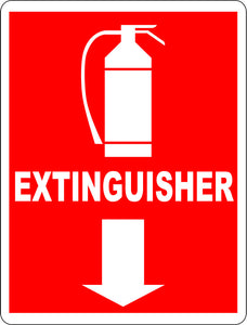Fire Extinguisher Sign - Signs & Decals by SalaGraphics