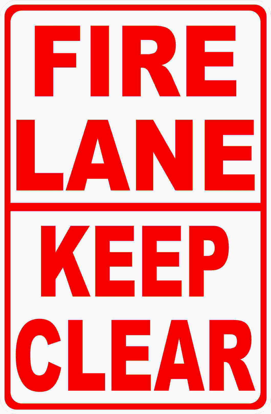 Fire Lane Keep Clear Sign by Sala Graphics