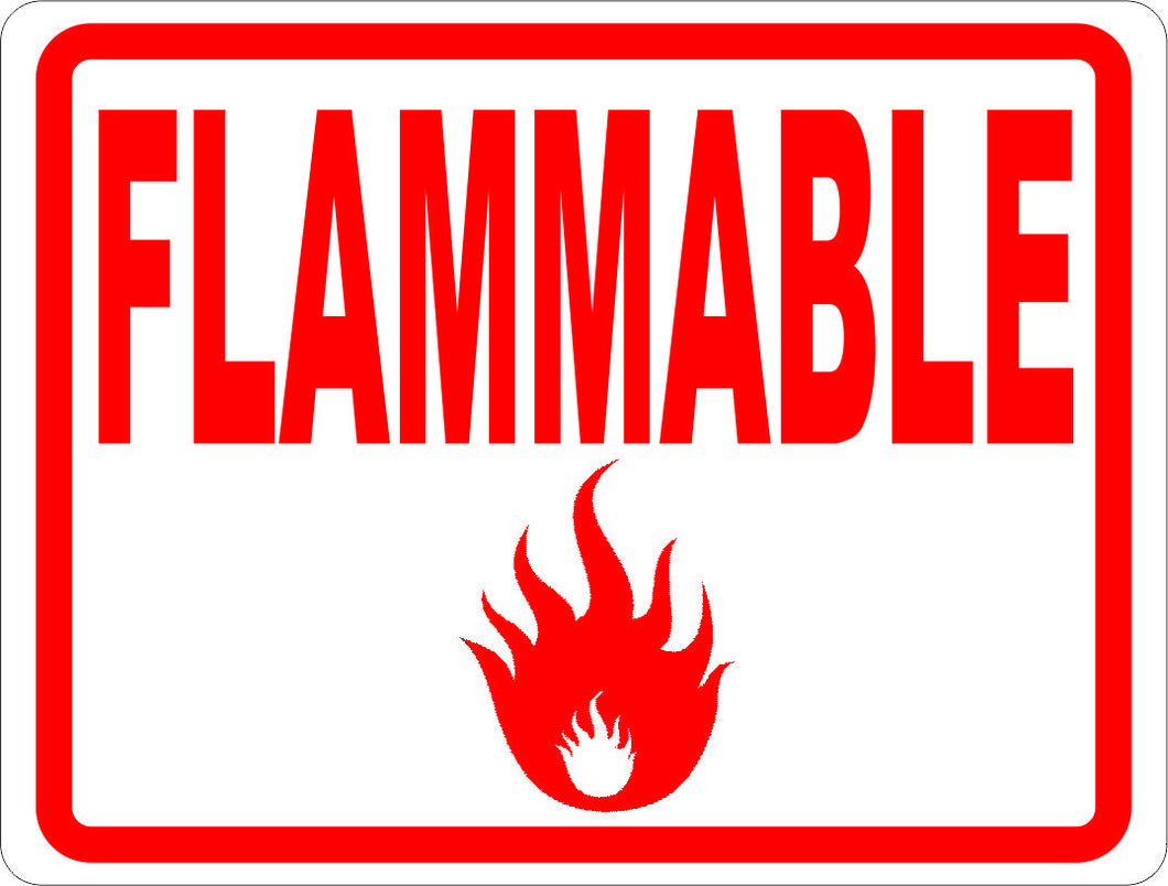 Flammable Sign - Signs & Decals by SalaGraphics