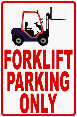 Forklift Parking Only Sign by Sala Graphics