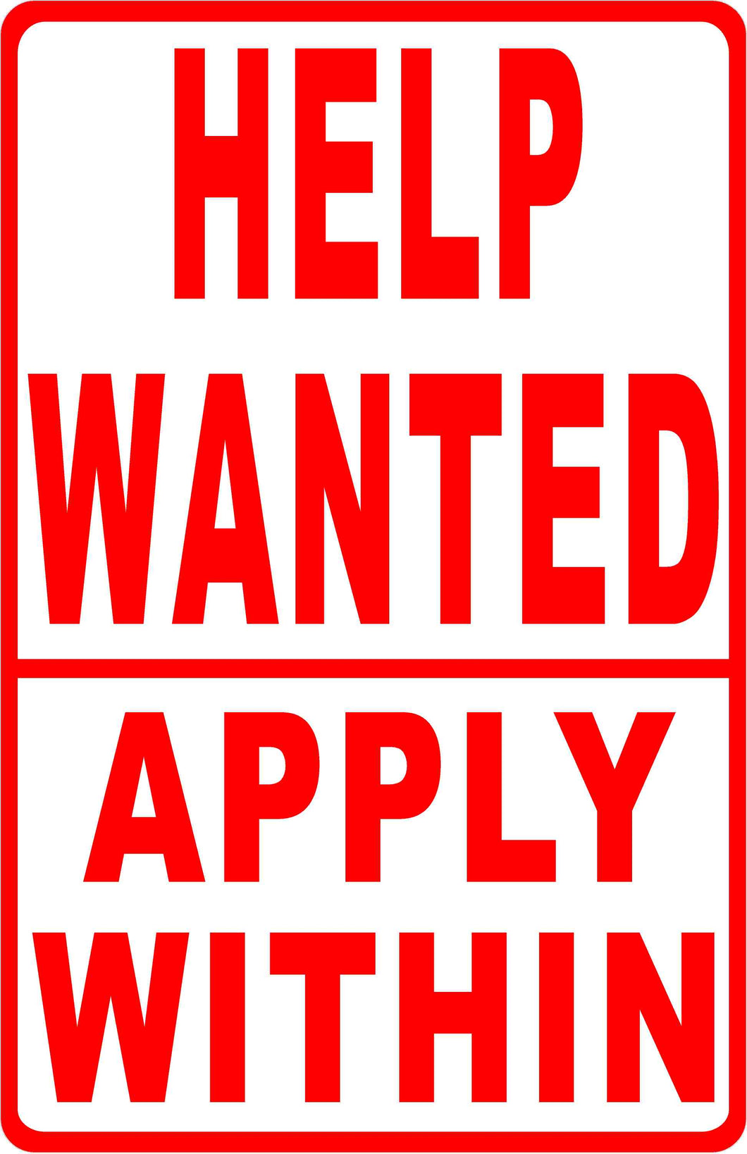 Help Wanted Apply Within Sign Signs By Salagraphics