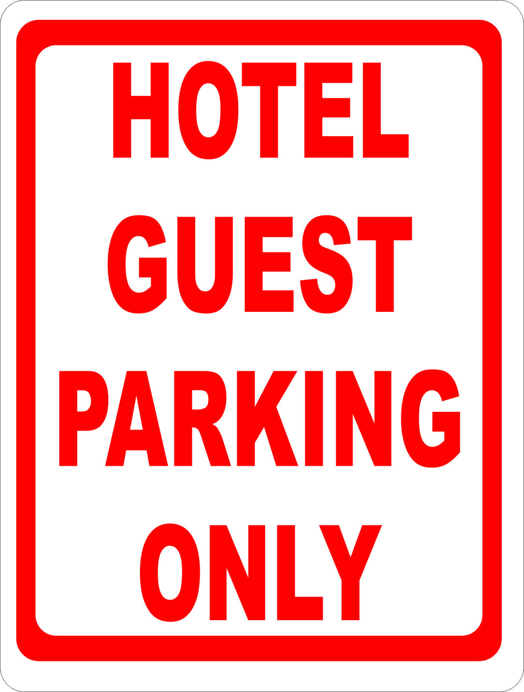 Hotel Guest Parking Only Sign - Signs & Decals by SalaGraphics