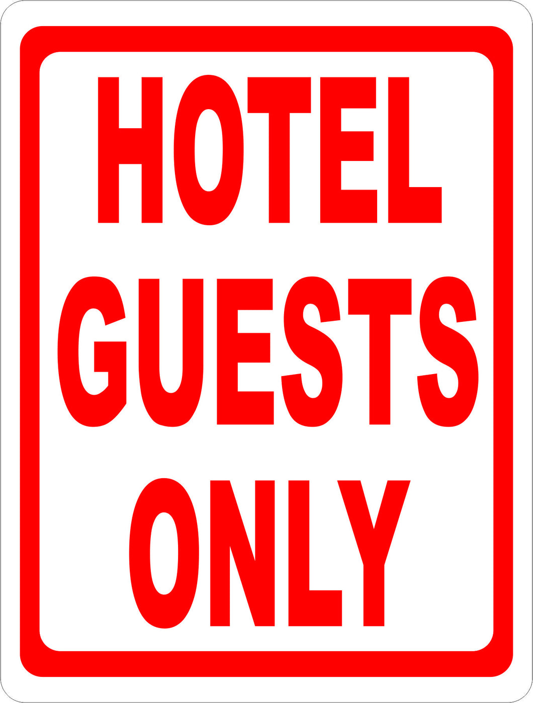 Hotel Guests Only Sign - Signs & Decals by SalaGraphics