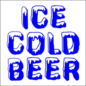 Beer Freezer Decal
