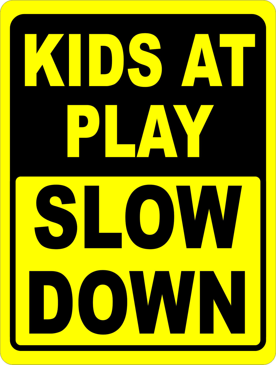 Kids at Play Slow Down Sign - Signs & Decals by SalaGraphics