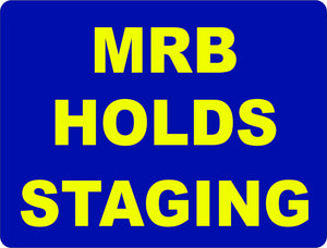 MRB Holds Staging Warehouse Rack Sign - Signs & Decals by SalaGraphics