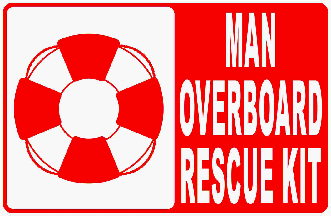 Water Rescue Kit Sign by Sala Graphics