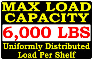 Max Load Per Shelf Sign by Sala Graphics